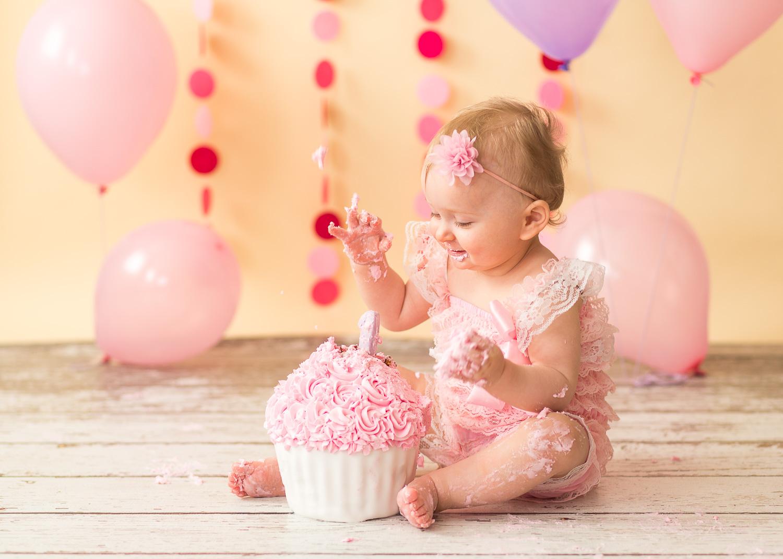 Smash Cake Baby Fotoshooting In Lehre Bei Wolfsburg Mit Anna 1 Jahr